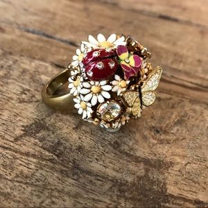 Juicy couture flower garden ring